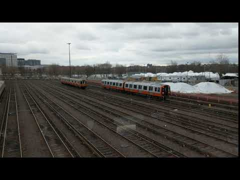 MBTA Orange Line - NEW CARS! Wellington yard only clip