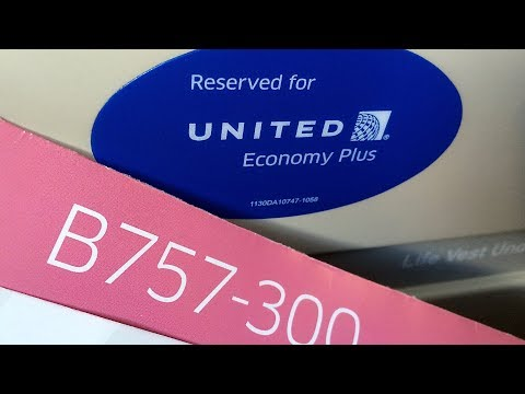 United Airlines Flight 272 Boeing 757-300 Economy Plus Seati