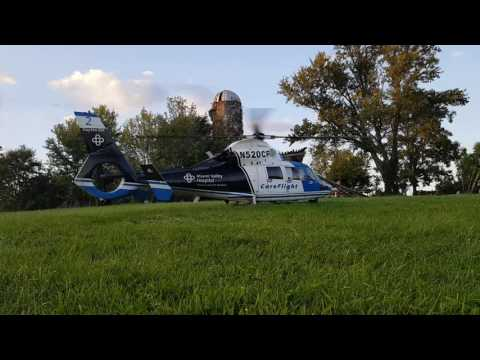 AS365-N3 Dauphin. Helicopter Startup & Takeoff