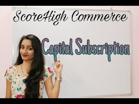 Capital Subscription I I class 11th I Business Studies I chapter 7 I part 3 I in Hindi हिंदी