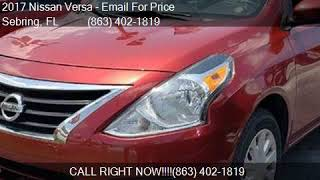 2017 Nissan Versa SV CVT for sale in Sebring, FL 33870 at Al