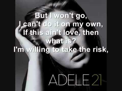 Adele - He Won't Go ( Lyrics )