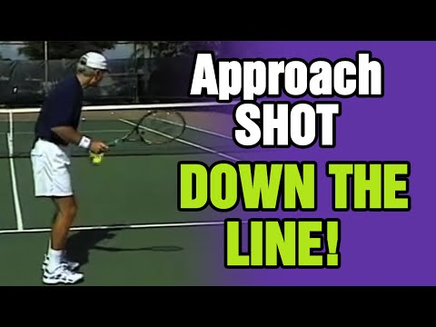 Tennis - Why Should Approach Shots Be Hit Down The Line? | Tom Avery Tennis 239.592.5920