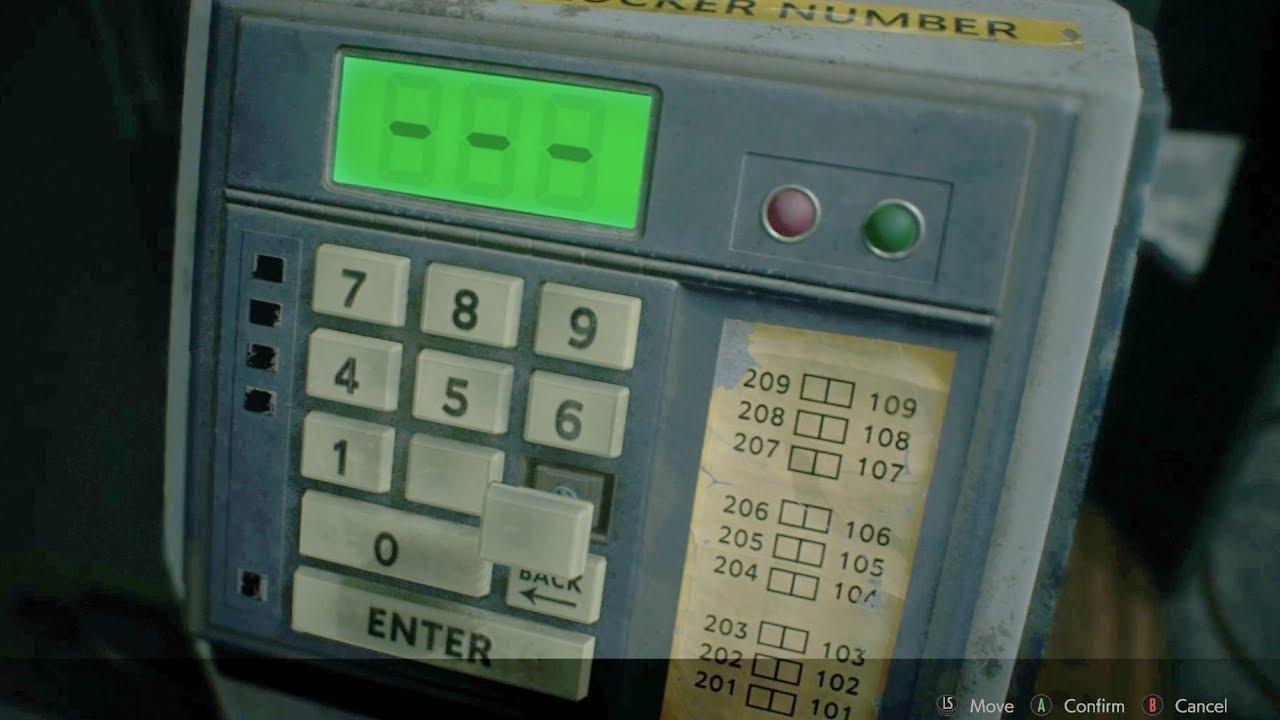 enter locker number resident evil 2