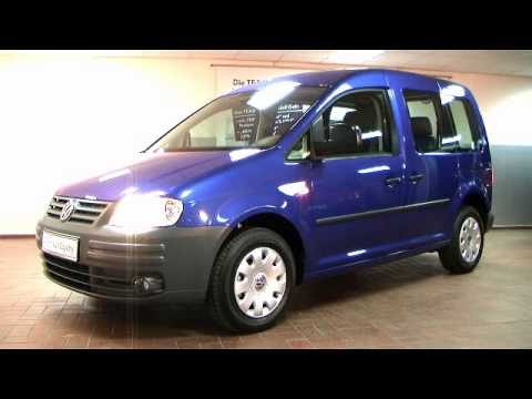 volkswagen caddy life 1 9 tdi ravennablau metallic video. Black Bedroom Furniture Sets. Home Design Ideas