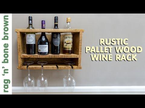 Making A Rustic Pallet Wood Wine Rack