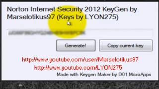Norton Internet Security 2012 KeyGen
