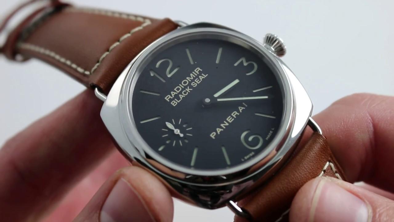 Panerai Radiomir Black Seal Pam 183 H Series Watch Review Youtube