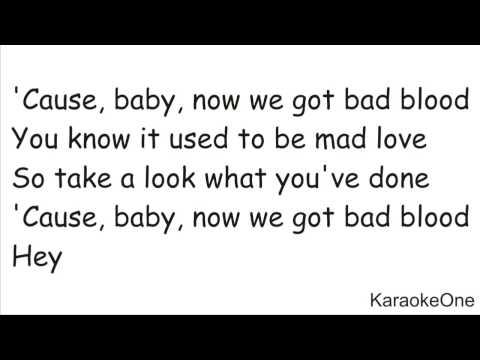 Taylor Swift - Bad Blood ( Karaoke Version...