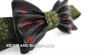 Wooden Bow Ties | The Titus Bennett | Black Ebony and Bloodwood