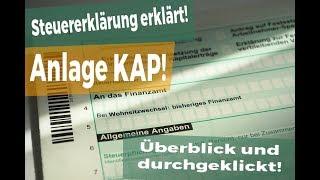 Steuererklärung 2017: Anlage KAP - so füllst du sie aus!