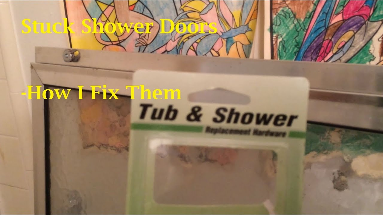 Stuck Shower Doors - How I Fix Them - YouTube