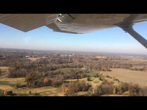 Landing at Southern Illinois Airport in a Cessna 172 During the Day