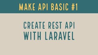 Create REST API with Laravel | Create API in PHP #1