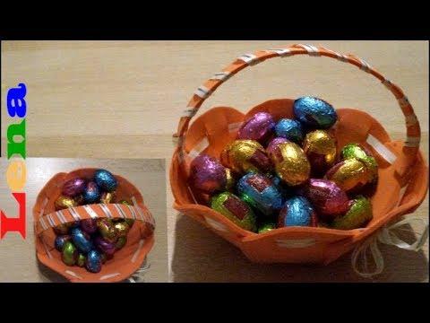 Osterkörbchen Basteln How To Make An Easter Basket как сделать корзинку своими руками
