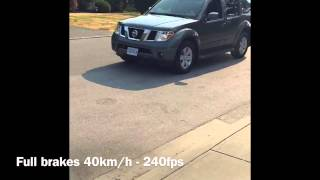 Nissan Pathfinder R51 ABS Slow Motion 40km/h - 0