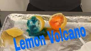 Lemon Volcano. Easy Science Experiment for kids! || Science Fair