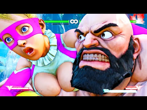Street Fighter V Zangief Critical Arts Ultra Combo on All Characters