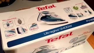 tefal ultragliss 80 fv4680 steam iron ultragliss diffusion sole plate unboxing and instructions
