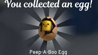 HOW TO GET Peep A Boo Egg Tutorial: Roblox Egg Hunt 2017