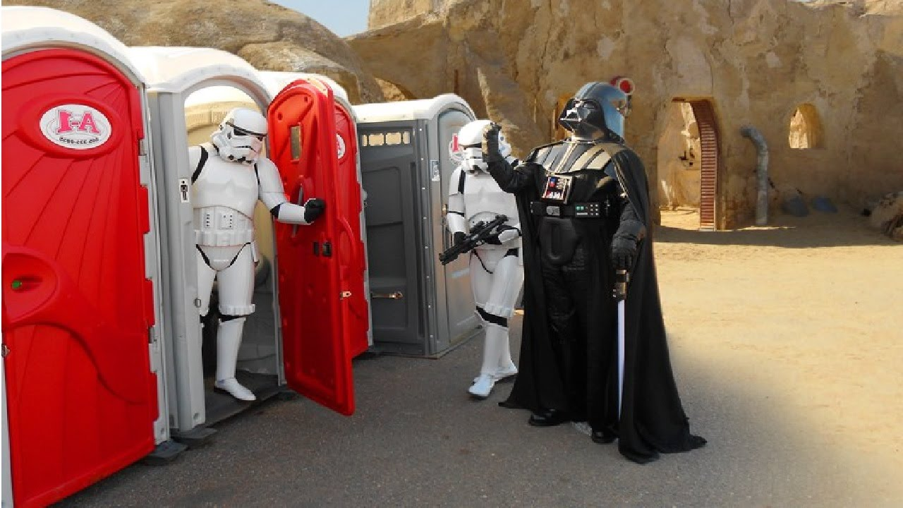 Candid Camera Star Wars : Toilet star wars prank stormtroopers attack youtube