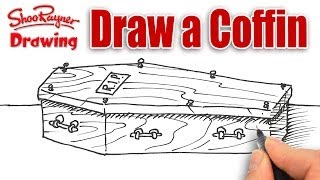 How to Draw a Coffin - Spoken Tutorial for Halloween