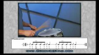 DRUM RUDIMENTS - Flamacue - Drum Lessons - How to Play Drums