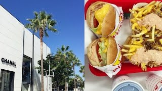 LA VLOG DAY 1 ♥ FLIGHT, US SHOPPING, HOTEL TOUR, IN-N-OUT