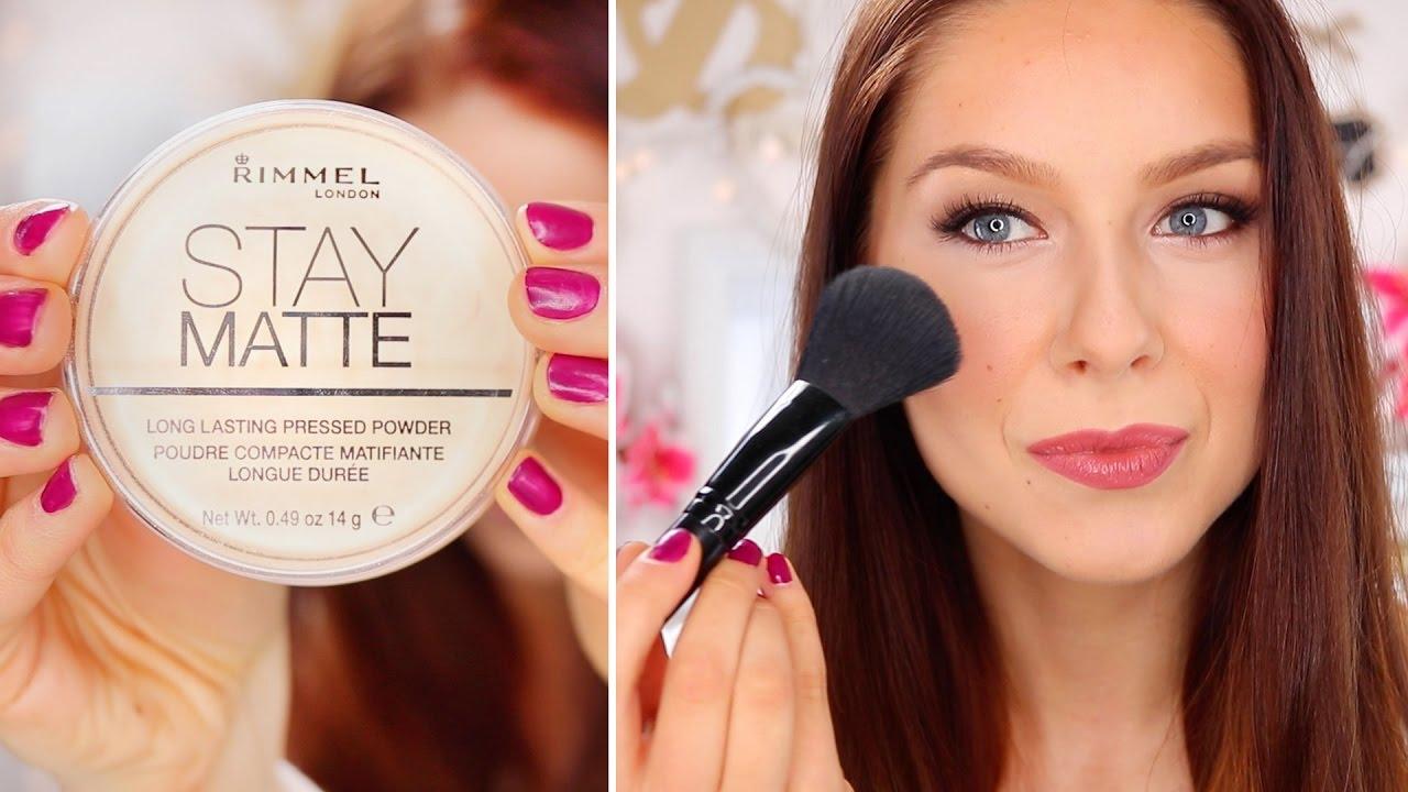 Rimmel Stay Matte Pressed Powder Wear Test Youtube London