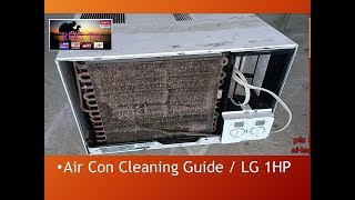 Air con Cleaning Guide / LG window type 1HP / TAGALOG