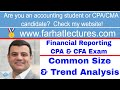 Common size and trend analysis income statement CFA exam ch 5 p 2