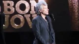 Video 2018 Rock & Roll Hall of Fame BON JOVI Complete Induction Speech download MP3, 3GP, MP4, WEBM, AVI, FLV April 2018