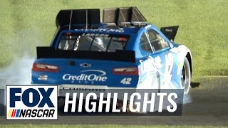 Joey Logano dumps Kyle Larson on the penultimate lap | 2018 All-STAR RACE | FOX NASCAR