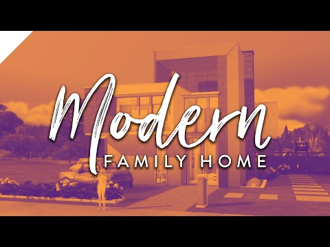 The Sims 4: Speed Build | Modern Family Home (CC Free)