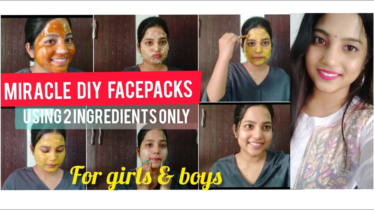 MIRACLE DIY FACEPACKS USING 2 INGREDIENT ONLY||4 GIRLS & BOYS ||MIRACLE GLOW|| ACNE ||PIA RAJ