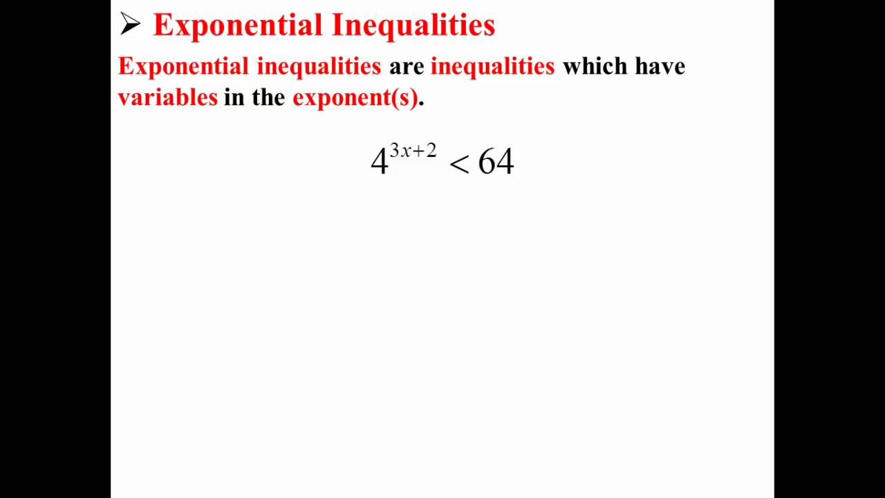 how to solve exponential inequalities