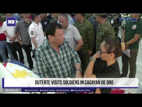 Duterte visits soldiers in Cagayan de Oro