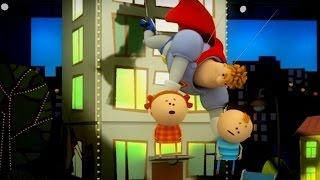 Аркадий Паровозов спешит на помощь - Почему опасно выходить на крышу дома - мультфильм детям