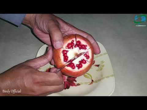 How To Cut Open A Pomegranate Easily - Pomegranate Cutting Trick