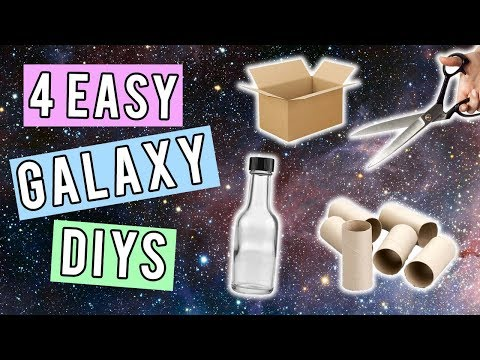 EASY GALAXY DIYS: 4 EASY GALAXY CRAFTS TO DO AT HOME| GALAXY ROOM DECOR IDEAS 2017