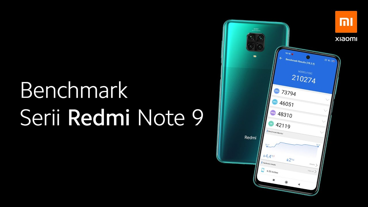 Benchmark serii Redmi Note 9