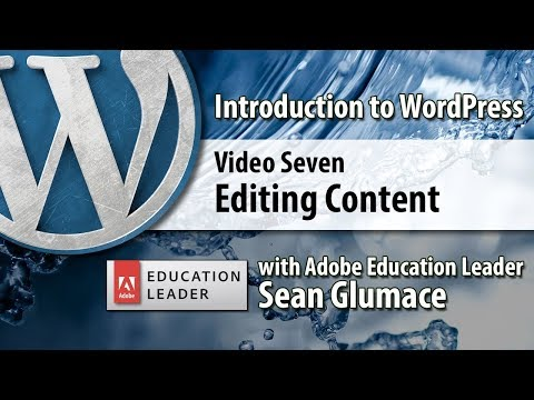 Video 07 Introduction to WordPress - Editing and Converting Content