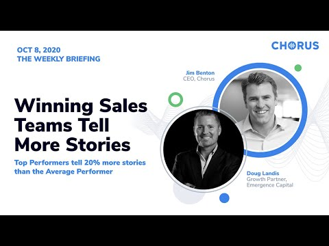 The Weekly Briefing - Winning Sales Teams Tell More Stories