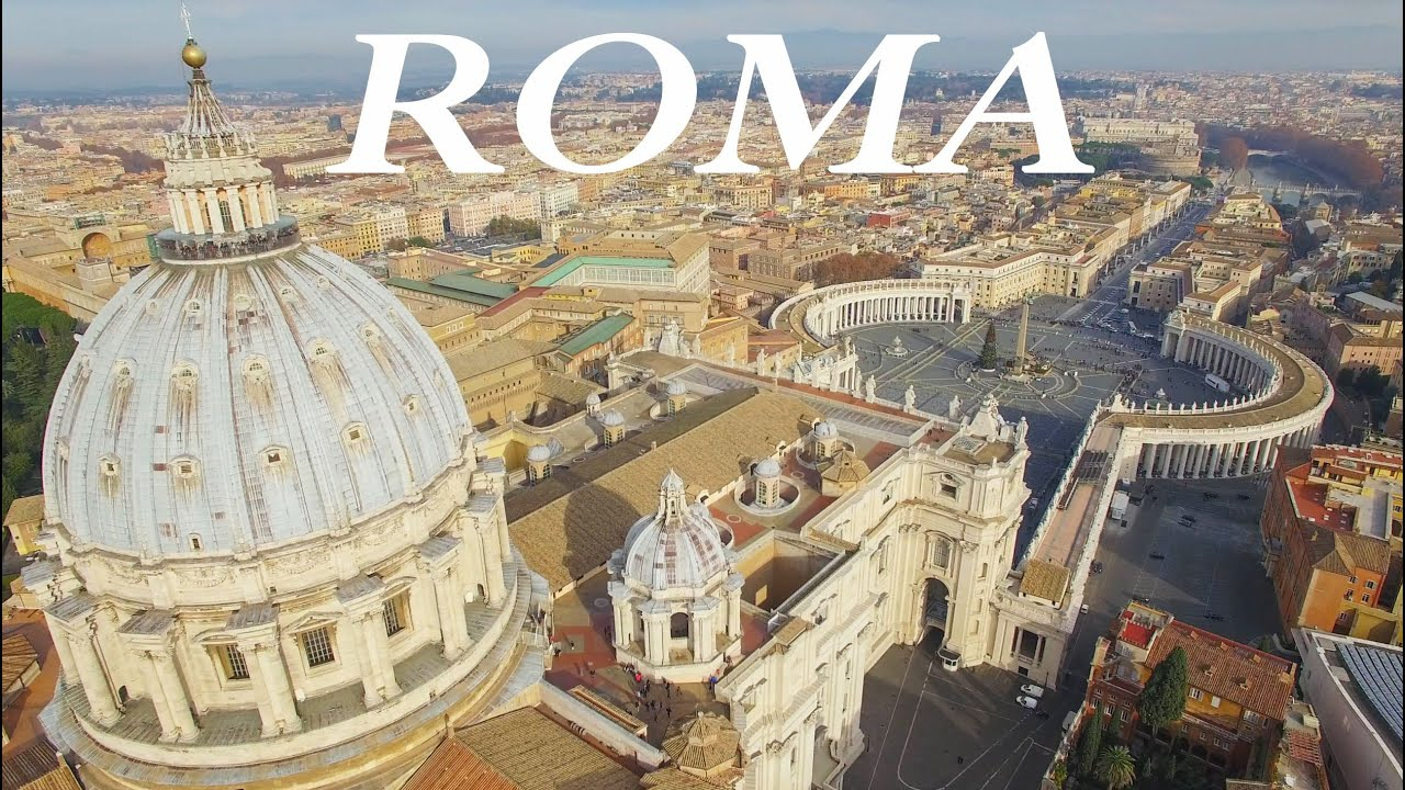 ROME from above  A 4K Drone aerial view  YouTube