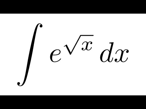 integral of e sqrt x substitution by parts youtube