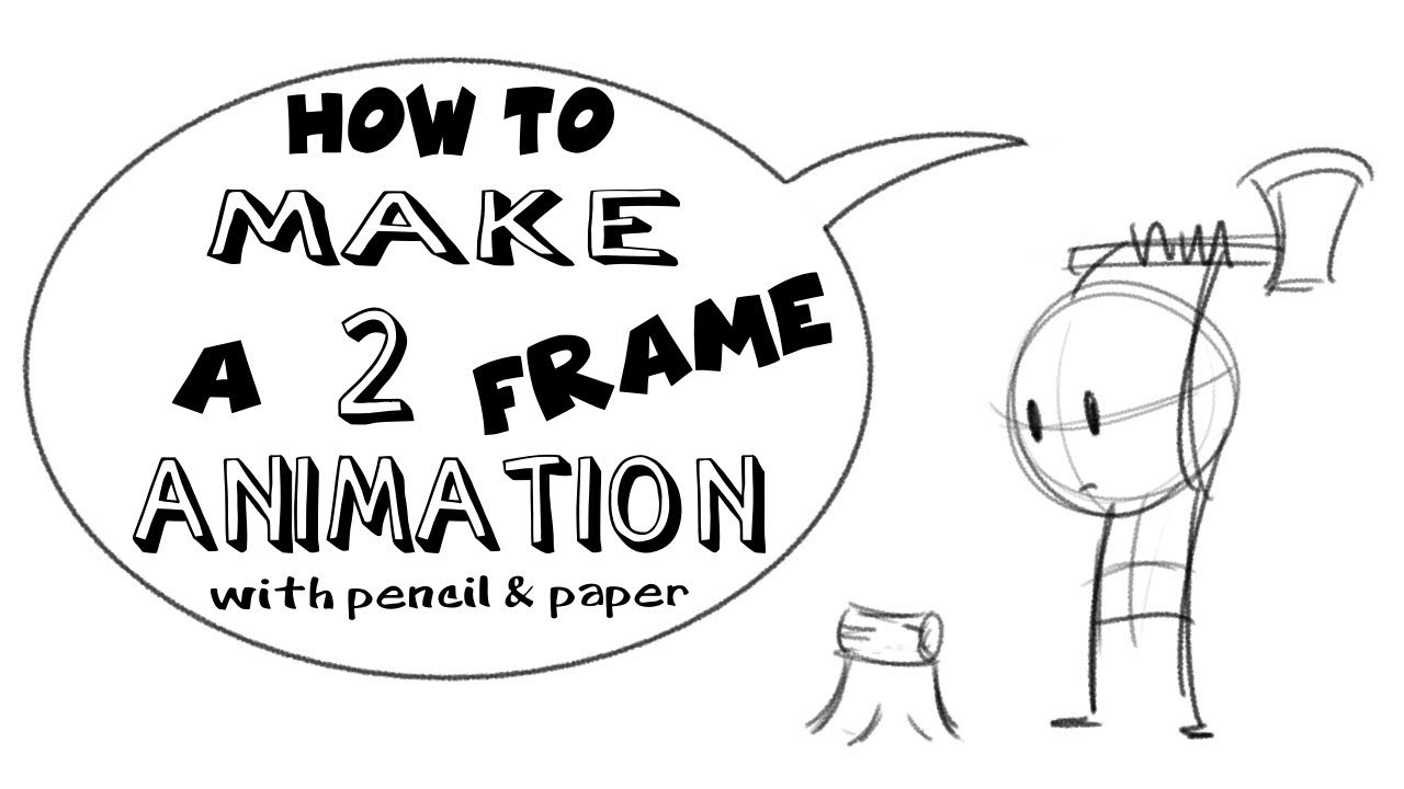 HOW to MAKE a 2 frame ANIMATION - YouTube