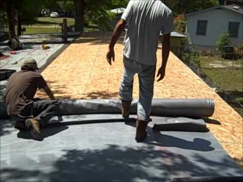 Mobile Home Roof Repair Supply Nc Youtube
