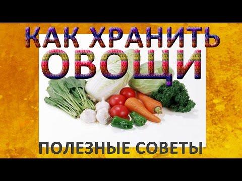 Как хранить овощи