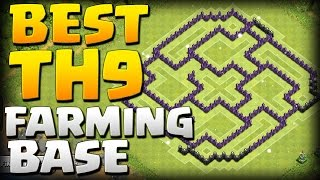 """Clash of Clans Town Hall 9 Defense """"CoC TH9"""" BEST Farming 4 Mortar Base 2015 - Christmas Update"""