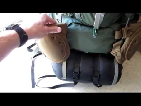 backpacking gear external frame pack part 1